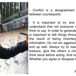 5 about conflict and how to handle them.